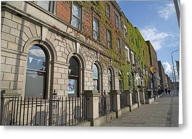 Window Of Life Greeting Cards - Bank of Ireland Greeting Card by Betsy A  Cutler