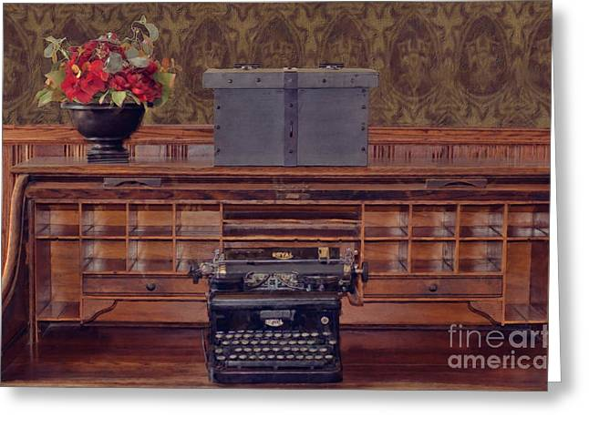Bank - Secretary Greeting Card by Liane Wright