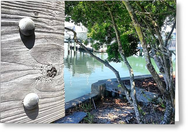 Wrightsville Beach Greeting Cards - Banks Channel hideaway Greeting Card by Karen Rhodes