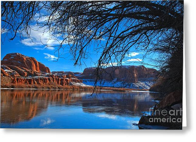Southern Utah Greeting Cards - Banks Of The Green River Greeting Card by Adam Jewell