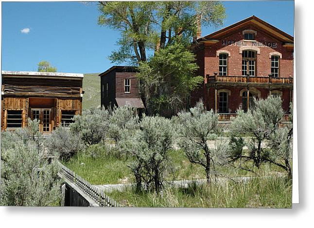 Recently Sold -  - Mining Photos Greeting Cards - Bannack Montanas Hotel Meade Greeting Card by Bruce Gourley