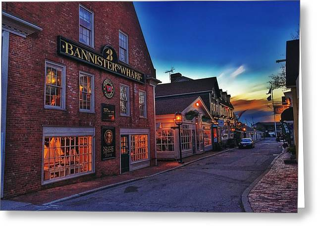 Digital Tapestries - Textiles Greeting Cards - Bannisters Wharf Greeting Card by Jason Michalski
