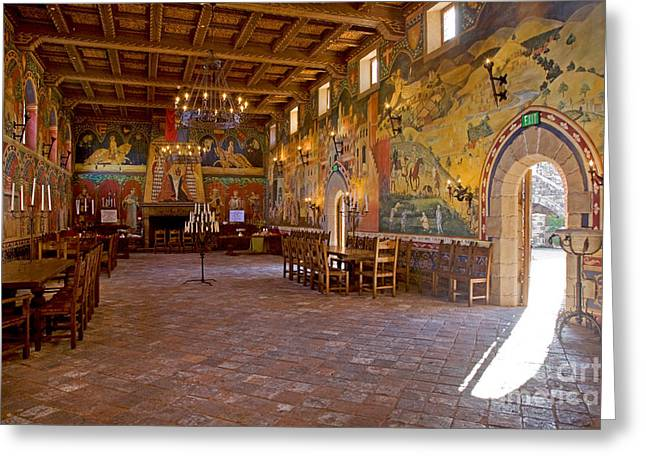 Hall Vineyards Greeting Cards - Banquet Hall Castello de Amarosa Greeting Card by Craig Lovell