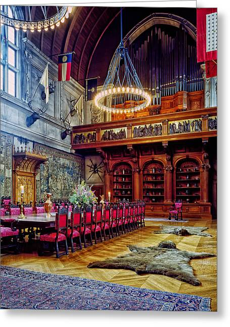 Biltmore Greeting Cards - Banquet Hall of the Biltmore Greeting Card by Mountain Dreams
