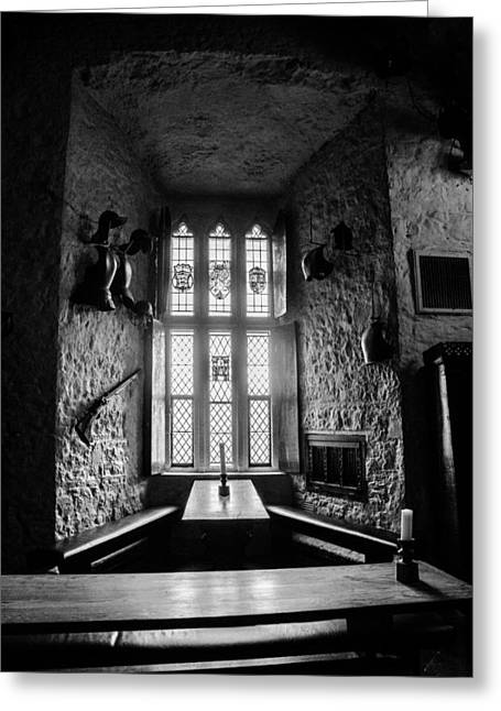 Stained Glass Ireland Greeting Cards - Banquet Table Greeting Card by AMB Fine Art Photography