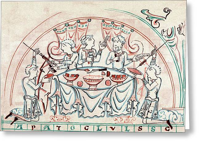 Banquet Greeting Card by Universal History Archive/uig