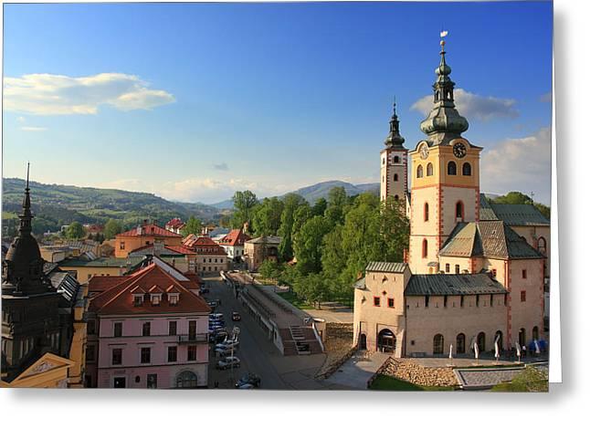 Alex Sukonkin Greeting Cards - Banska Bystrica Greeting Card by Alex Sukonkin