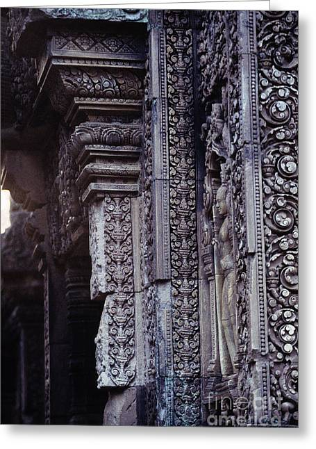 Wat Angkor Greeting Cards - Banteay Srei temple Angkor Wat ruins Cambodia Greeting Card by Ryan Fox