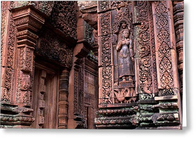 Southeast Asia Greeting Cards - Bantreay Srei Nr Siem Reap Cambodia Greeting Card by Panoramic Images
