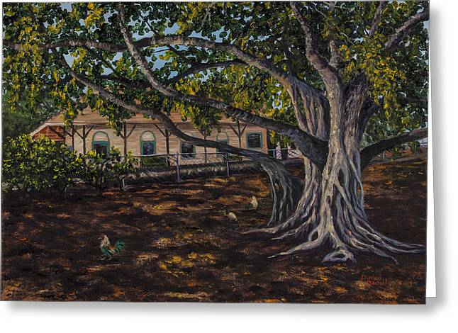 Banyan Tree Greeting Card by Darice Machel McGuire