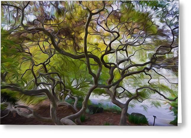 Branch Greeting Cards - Banyan Tree  Greeting Card by Lanjee Chee