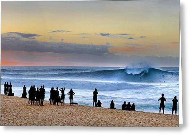 Banzai Sunset Greeting Card by Sean Davey