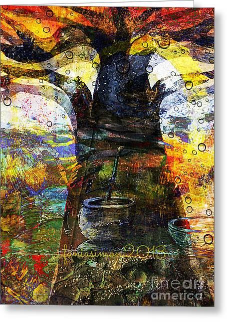 Baobab Tree  Greeting Card by Fania Simon