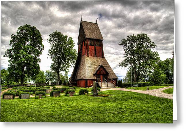 Mound Greeting Cards - Bapistry Of Uppsala Church - Gamia - Uppsala Sweden Greeting Card by Jon Berghoff