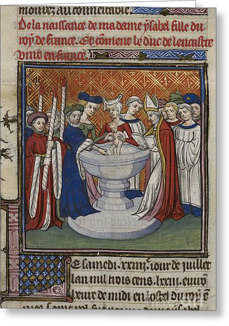 Baptism Of French King's Child Greeting Card by British Library