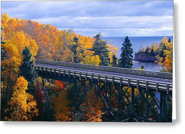 Baptism Greeting Cards - Baptism River Into Lake Superior Greeting Card by Panoramic Images