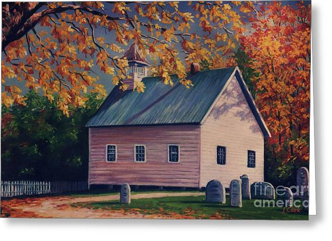 Caves Pastels Greeting Cards - Baptist Church  Cades Cove Greeting Card by John Clark