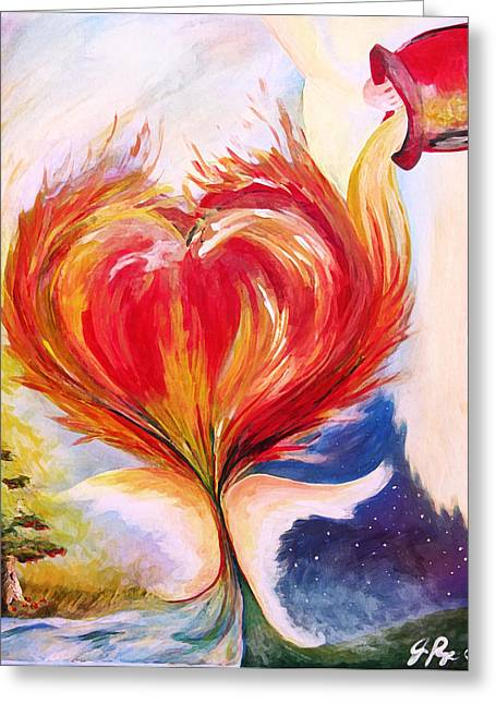Baptize Greeting Cards - Baptize me with holy fire Greeting Card by Jennifer Page