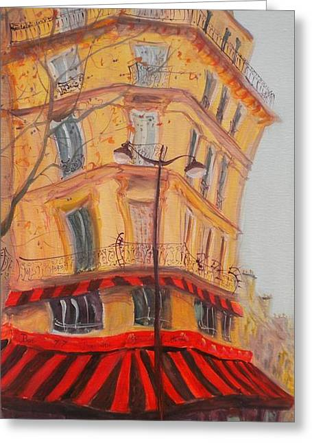 Facade Photographs Greeting Cards - Bar 77, 2010 Oil On Canvas Greeting Card by Antonia Myatt
