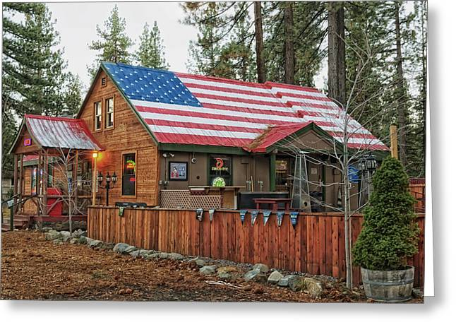 South Lake Tahoe Greeting Cards - Bar and Grill in South Lake Tahoe Greeting Card by Mountain Dreams
