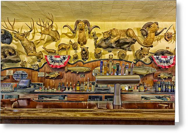 Tap Greeting Cards - Bar and Restaurant in Rio Vista California Greeting Card by Mountain Dreams