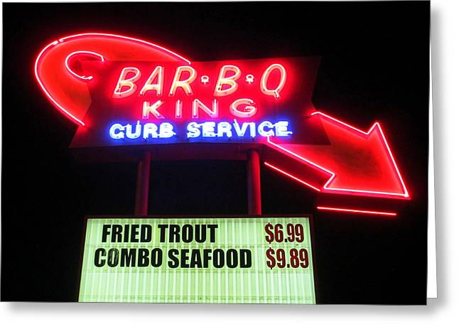 Bar B Q King In Charlotte N C Greeting Card by Randall Weidner