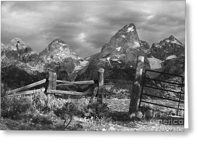 Dude Ranch Greeting Cards - Perfection in the Grand Tetons Greeting Card by Thomas Levine