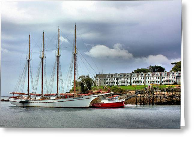Schooner Greeting Cards - Bar Harbor Greeting Card by Kristin Elmquist