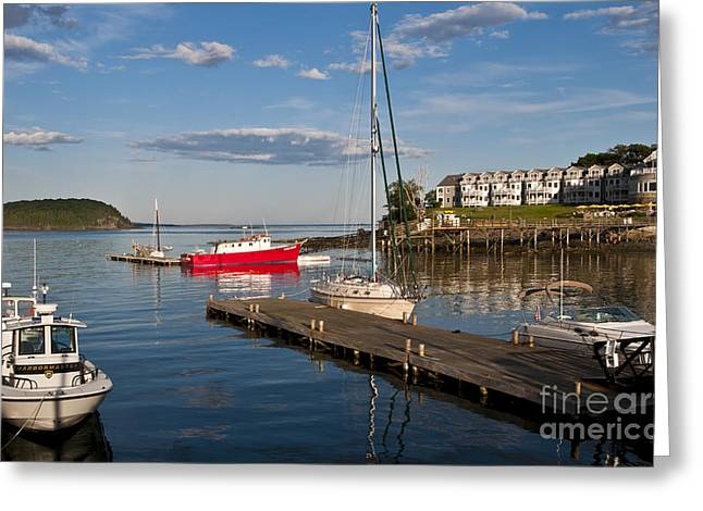 Us Destinations Greeting Cards - Bar Harbor, Maine Greeting Card by Bill Bachmann