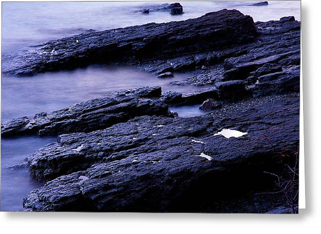 Maine Shore Greeting Cards - Bar Harbor Tidal Pool Greeting Card by Stuart Litoff