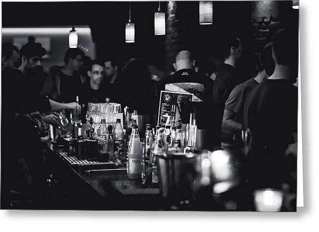 Bar Hopping  Greeting Card by Mountain Dreams