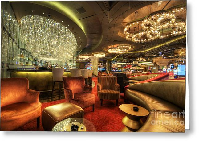 Las Vegas Art Greeting Cards - Bar Lounge Greeting Card by Yhun Suarez