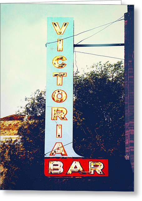 Vintage Style Photograph Greeting Cards - Bar Sign Greeting Card by Ann Powell