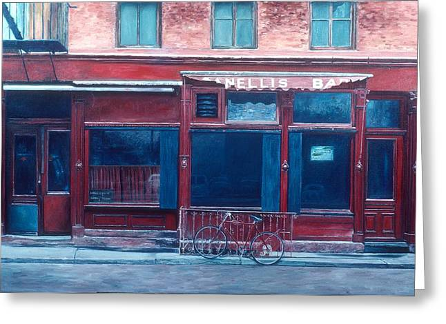 Fine Artworks Greeting Cards - Bar SoHo Greeting Card by Anthony Butera