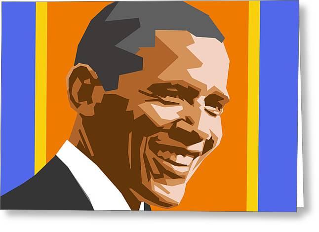 Barack Greeting Card by Douglas Simonson