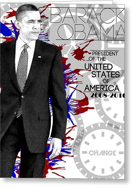 Barack Obama Greeting Card by Anibal Diaz