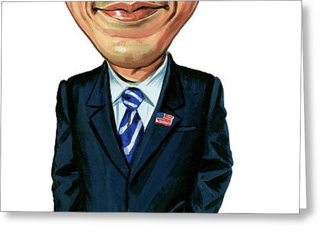 Barack Obama Greeting Card by Art