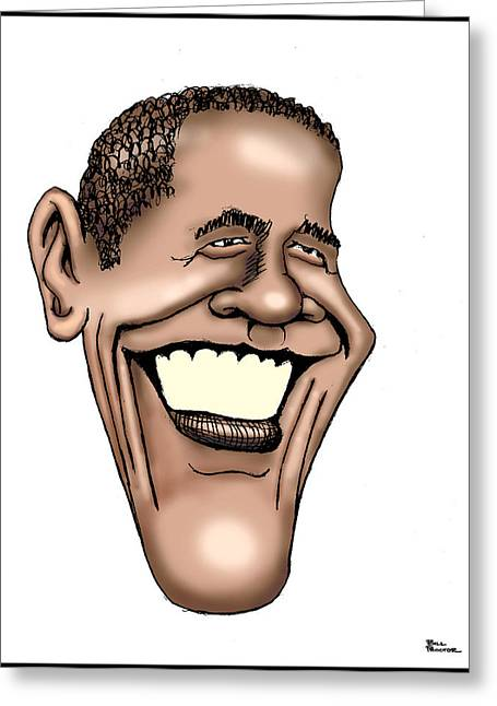 Barack Greeting Cards - Barack Obama Greeting Card by Bill Proctor
