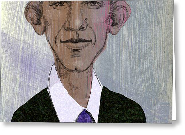 Barack Obama Greeting Card by Steve Dininno