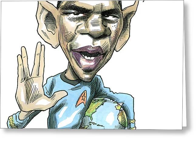 Barack Obama Greeting Card by Taylor Jones