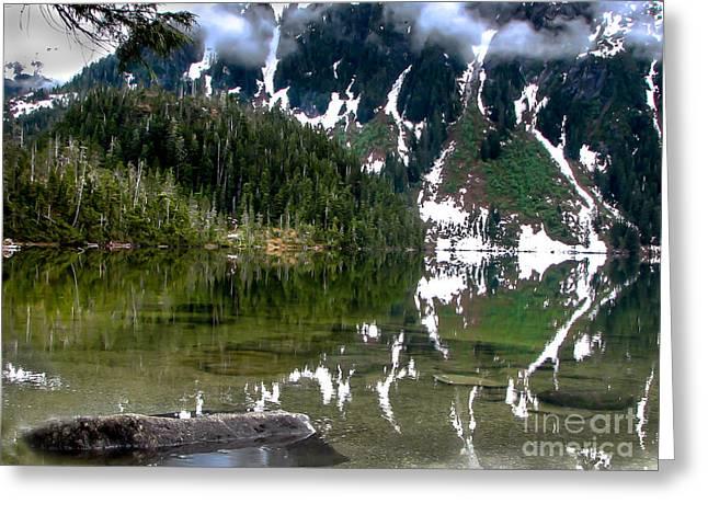 Haybale Greeting Cards - Baranof Lake Greeting Card by Robert Bales