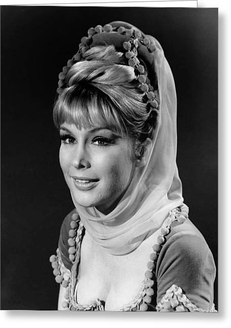Barbara Eden Greeting Cards - Barbara Eden - I Dream of Jeannie  Greeting Card by Mountain Dreams