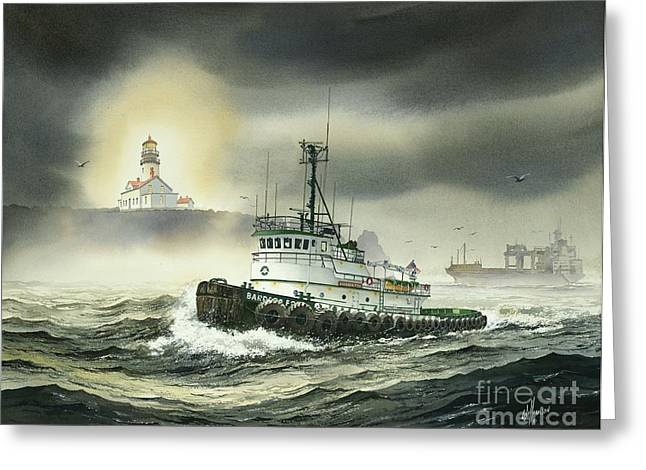 Lighthouse Prints Greeting Cards - Barbara Foss Greeting Card by James Williamson