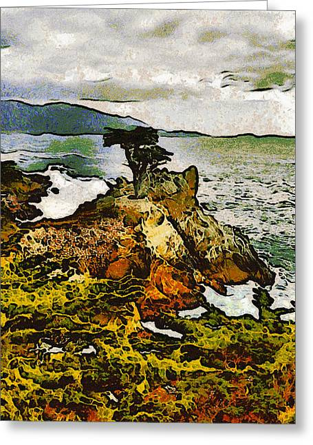 Scenes Of Pebble Beach Greeting Cards - Barbara Snyder Greeting Card by Lone Cyress