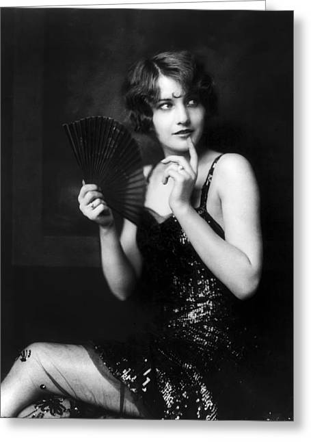Academy Awards Oscars Greeting Cards - Barbara Stanwyck Greeting Card by Daniel Hagerman