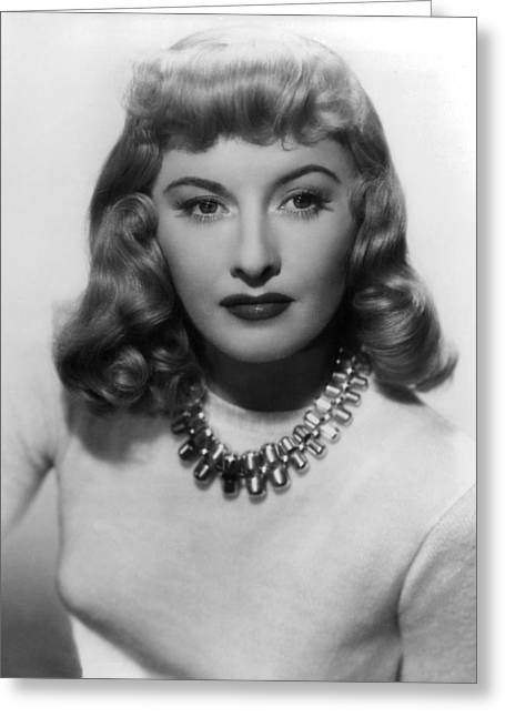 Double Greeting Cards - Barbara Stanwyck in Double Indemnity  Greeting Card by Silver Screen