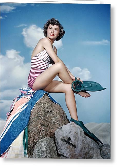 Barbara Greeting Cards - Barbara Stanwyck Greeting Card by Silver Screen