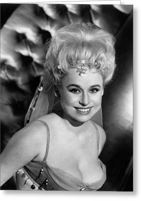 Carry Greeting Cards - Barbara Windsor in Carry on Spying  Greeting Card by Silver Screen