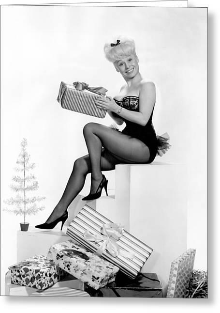 Barbara Greeting Cards - Barbara Windsor Greeting Card by Silver Screen