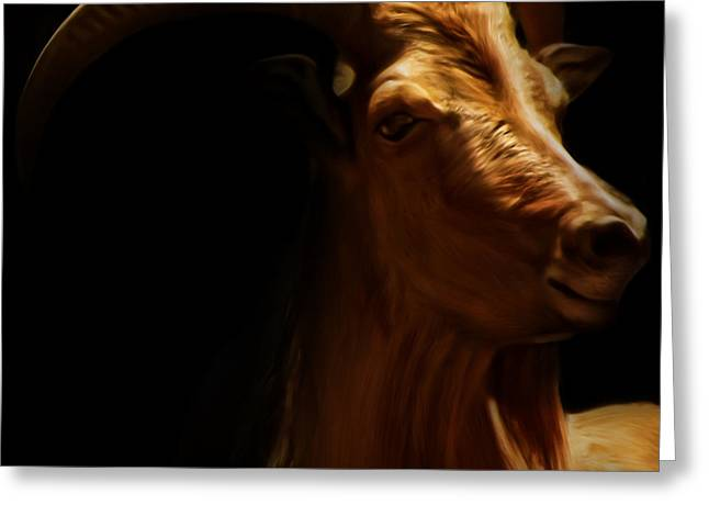 Barbary Sheep Portrait Greeting Card by Lourry Legarde